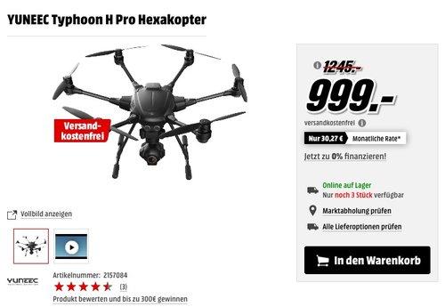 YUNEEC Typhoon H Pro Hexakopter - jetzt 17% billiger