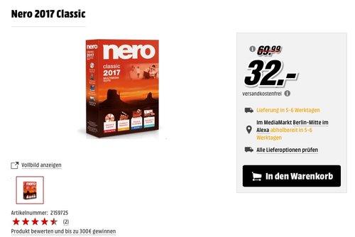 Nero 2017 Classic - jetzt 13% billiger