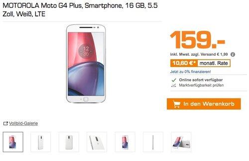 Motorola Moto G4 Plus Smartphone (14 cm (5,5 Zoll), 16GB, Android) weiß - jetzt 14% billiger