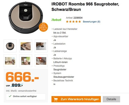 Roomba 966 Saugroboter - jetzt 14% billiger