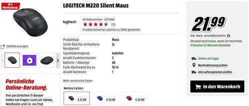 LOGITECH M220 Silent Maus - jetzt 45% billiger