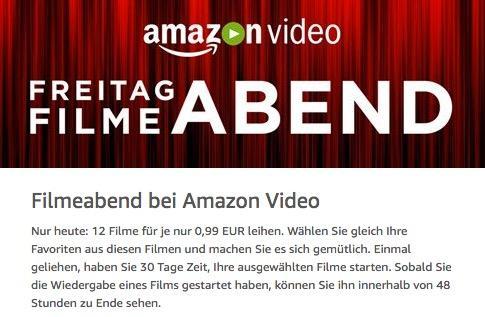 Filmeabend bei Amazon Video - jetzt 67% billiger