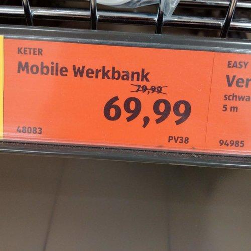 Keter Mobile Werkbank - jetzt 13% billiger