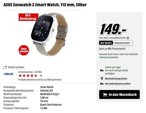 Asus Zenwatch 2 - jetzt 23% billiger