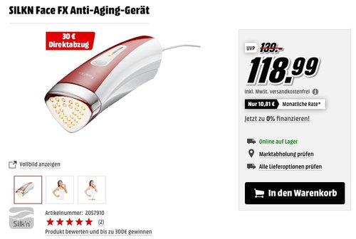 Silk'n Anti-Aging Gerät, HF-Technologie für Hautverjüngung, FaceFX, Weiß/Rot - jetzt 25% billiger