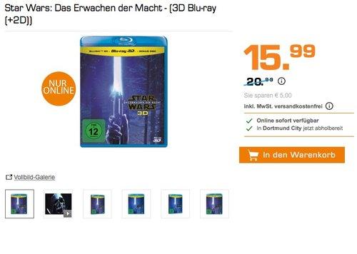 Star Wars: Das Erwachen der Macht - (3D Blu-ray (+2D)) - jetzt 24% billiger