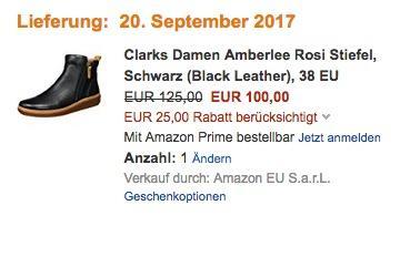 Clarks Damen Amberlee Rosi Stiefel  - jetzt 20% billiger