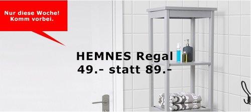 KEA HEMNES Regal, 42x37 cm, 127 cm hoch, grau - jetzt 45% billiger