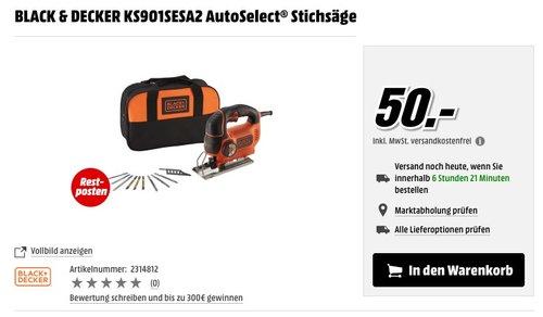 BLACK & DECKER KS901SESA2 AutoSelect® Stichsäge - jetzt 23% billiger