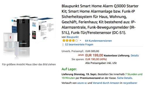 Blaupunkt Smart Home Alarm Q3000 Starter Kit - jetzt 33% billiger