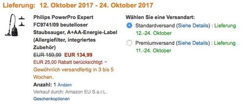 Philips PowerPro Expert FC9741/09 beutelloser Staubsauger - jetzt 34% billiger