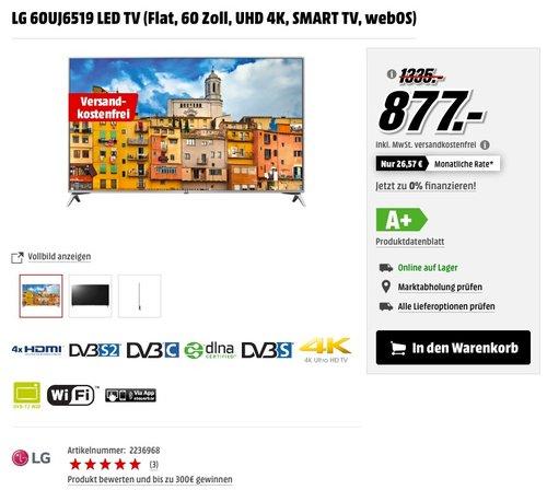 LG 60UJ6519 60 Zoll LED TV - jetzt 18% billiger