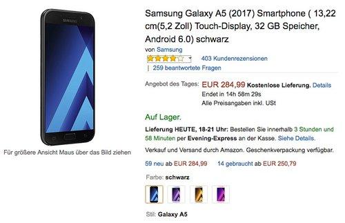 Samsung Galaxy A5 (2017)  - jetzt 5% billiger
