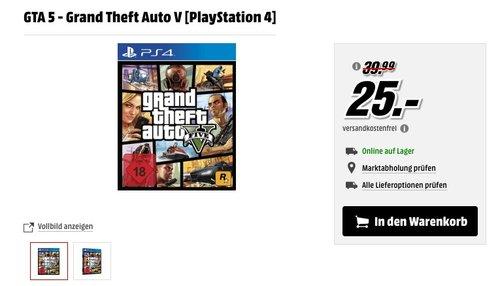 GTA 5 - Grand Theft Auto V [PlayStation 4] - jetzt 37% billiger