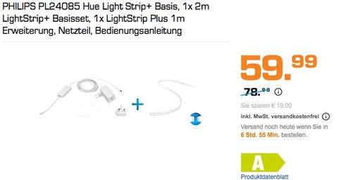 PHILIPS PL24085 Hue Light Strip+ 2m plus 1m Erweiterung - jetzt 24% billiger