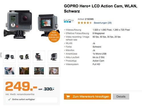 GOPRO Hero+ LCD Action Cam - jetzt 23% billiger