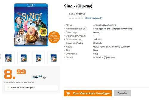 Sing - (Blu-ray) - jetzt 40% billiger