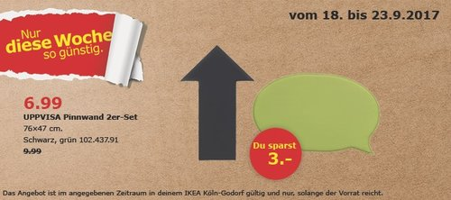 IKEA UPPVISA Pinnwand 2er -Set, 76x47 cm - jetzt 30% billiger