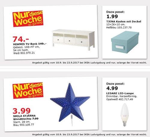 IKEA HEMNES TV-Bank, 148x47 cm, 54 cm hoch, weiß - jetzt 50% billiger