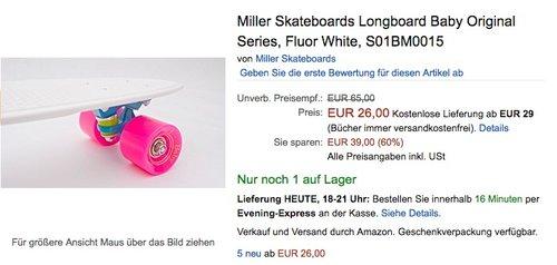 Miller Skateboards Longboard Baby Original Series - jetzt 38% billiger
