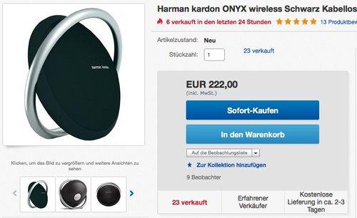 Harman/Kardon Onyx Lautsprechersystem  - jetzt 26% billiger