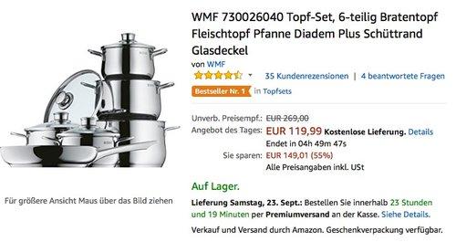 WMF 730026040 Topf-Set, 6-teilig  - jetzt 35% billiger