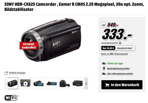 SONY HDR-CX625 Camcorder - jetzt 12% billiger