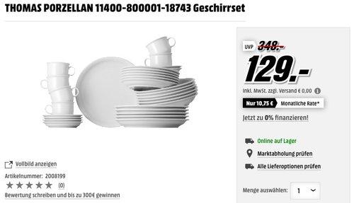 Thomas Trend Porzellan Weiss Set 30-tlg. - jetzt 24% billiger