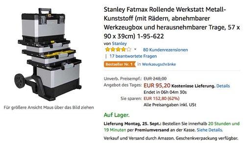 Stanley Fatmax Rollende Werkstatt Metall-Kunststoff - jetzt 15% billiger