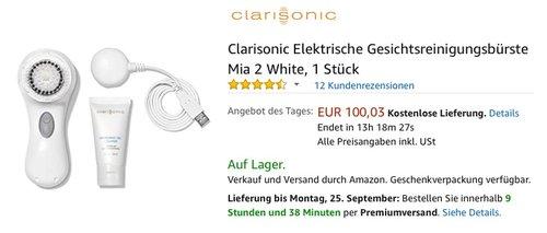 Clarisonic Elektrische Gesichtsreinigungsbürste Mia 2 - jetzt 23% billiger