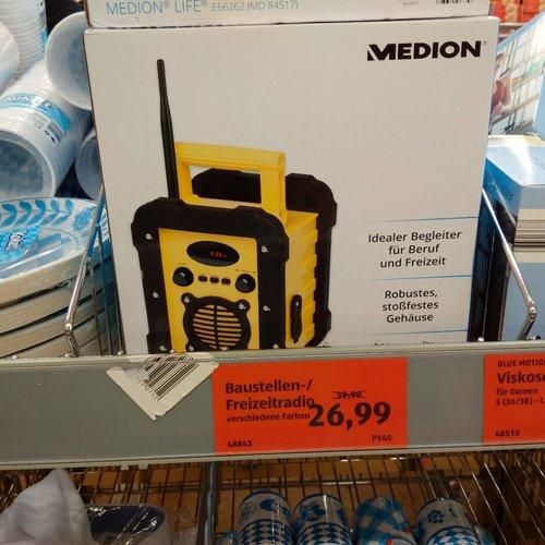 Medion Baustellenradio - jetzt 33% billiger