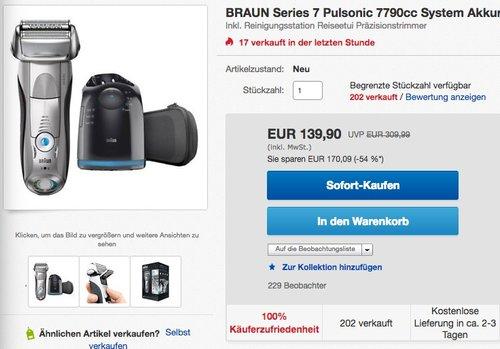 Braun Series 7790 CC Herrenrasierer - jetzt 13% billiger