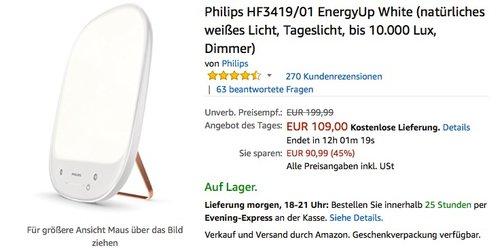 Philips HF3419/01 EnergyUp White - jetzt 31% billiger