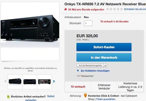 Onkyo TX-NR656 7.2 AV Netzwerk Receiver - jetzt 18% billiger