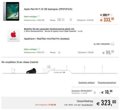 Apple iPad (2017) 32GB spacegrau - jetzt 10% billiger