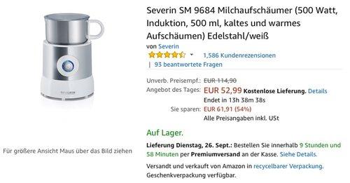 Severin SM 9684 Milchaufschäumer - jetzt 20% billiger