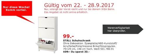 IKEA STÄLL Schuhschrank, 79x29 cm, 148 cm hoch, weiß - jetzt 23% billiger