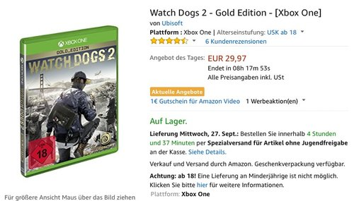 Watch Dogs 2 - Gold Edition - [Xbox One] - jetzt 33% billiger