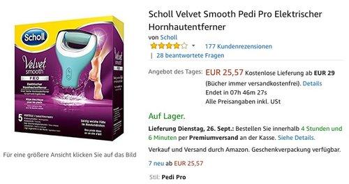 Scholl Velvet Smooth Pedi Pro Elektrischer Hornhautentferner - jetzt 21% billiger
