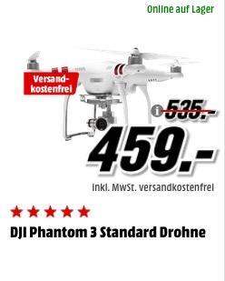 DJI Phantom 3 Standard Drohne - jetzt 6% billiger