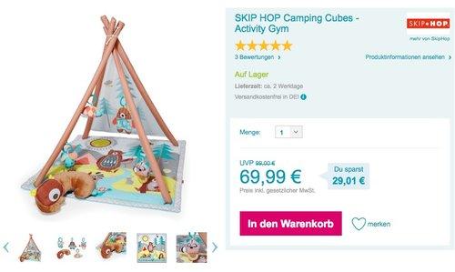 Skip Hop Camping Cubes Activity Gym – Spielbogen Indianerzelt - jetzt 15% billiger