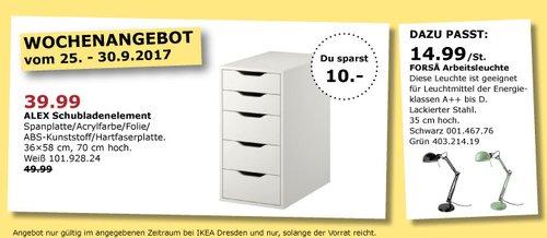 IKEA ALEX Schubladenelement, 36x58 cm, 70 cm hoch - jetzt 20% billiger