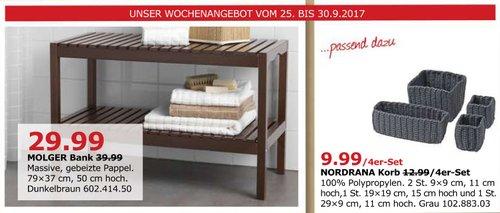 IKEA MOLGER Bank, 79x37 cm, 50 cm hoch, dunkelbraun - jetzt 25% billiger