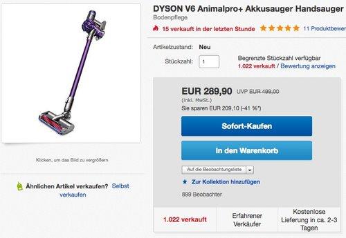 DYSON V6 Animalpro+ Akkusauger - jetzt 11% billiger