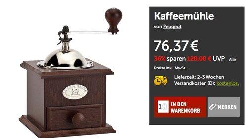 Peugeot 841-1 Kaffeemühle Nostalgie, 21 cm - jetzt 26% billiger