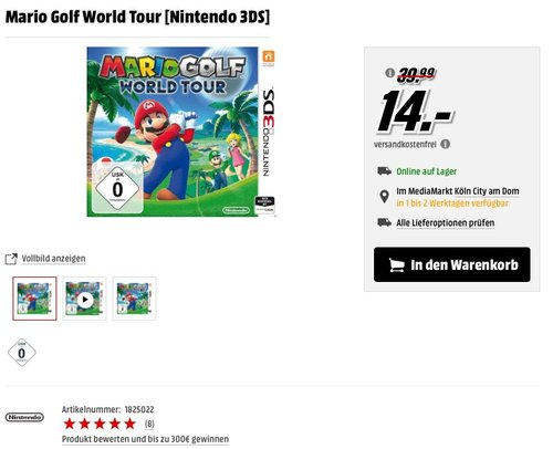 Mario Golf World Tour [Nintendo 3DS] - jetzt 33% billiger