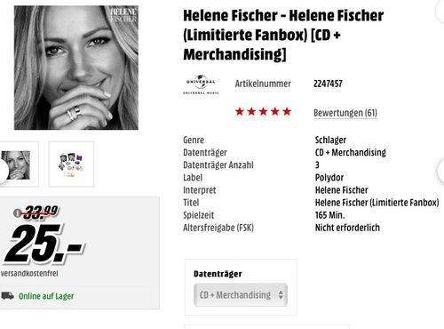 Helene Fischer (limitierte Fanbox 2CD + Bonus-CD + Notizbuch + 5 signierte Fotoprints) 2017 - jetzt 26% billiger