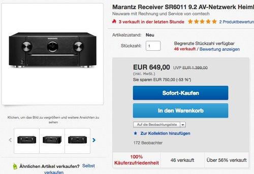 Marantz SR6011/N1B Heimkino 9.2 AV Receiver  - jetzt 11% billiger