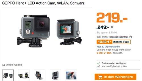GOPRO Hero+ LCD Action Cam - jetzt 11% billiger