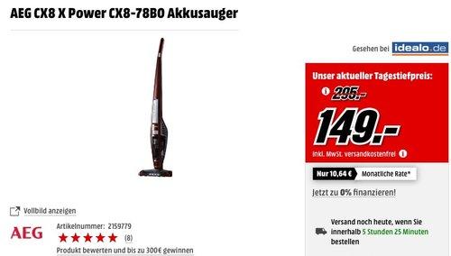 AEG Eco UltraPower CX8-78BO kabelloser Handstaubsauger  - jetzt 39% billiger